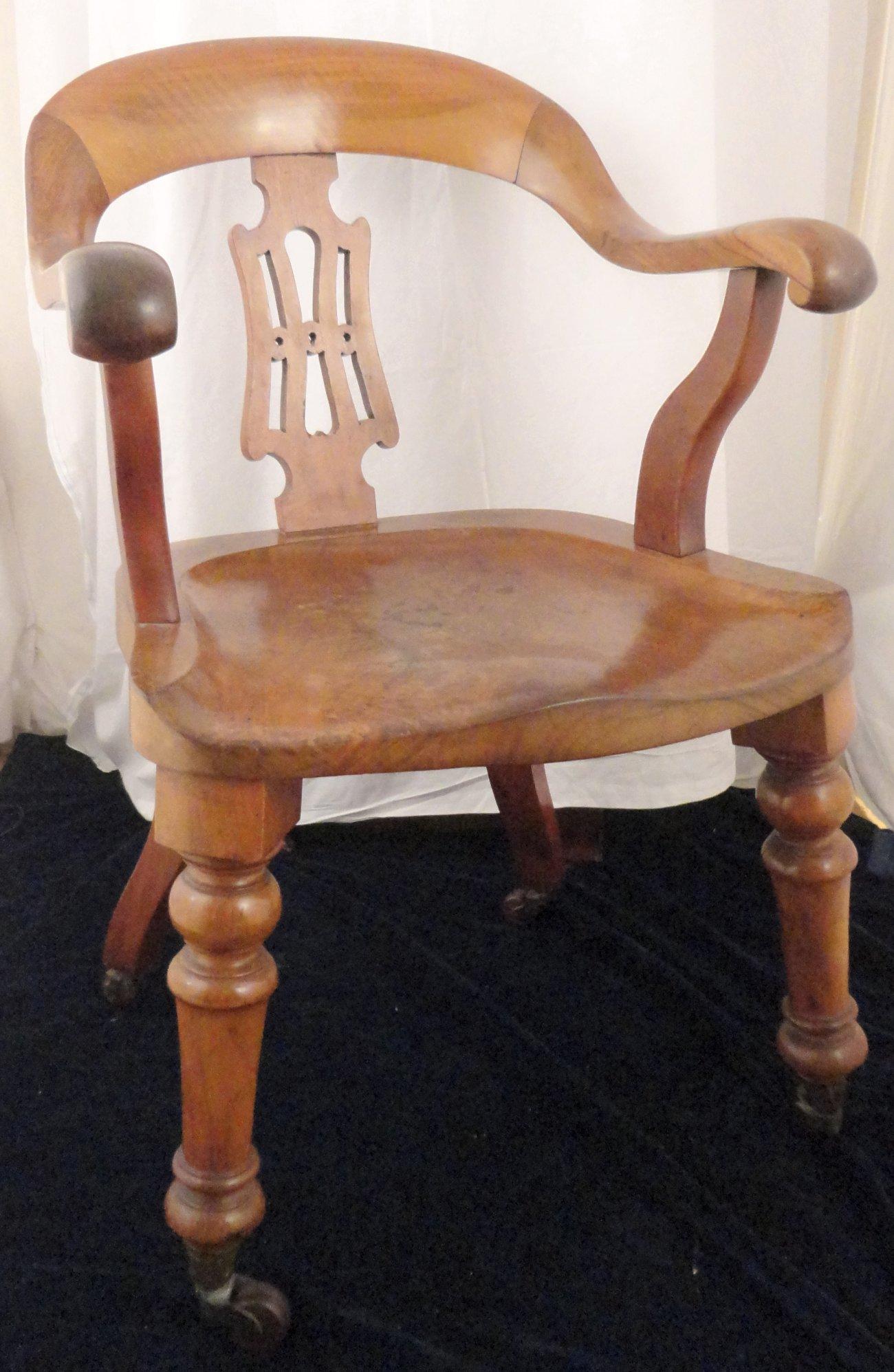 antique solid mahogany desk armchair circa 1860 ian burton
