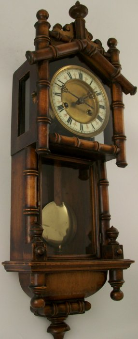 Antique Vienna Wall Clock In Bamboo Style Case Ian