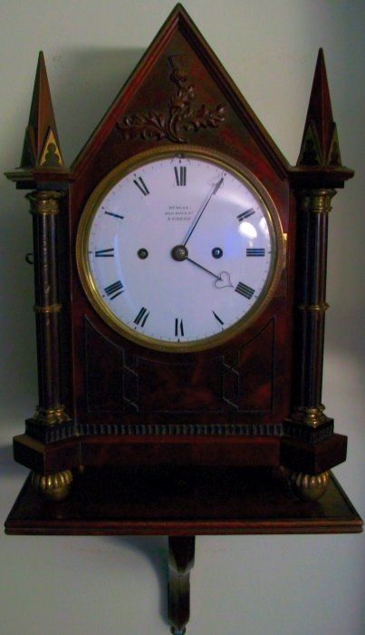 Small Antique Bracket Clock With Wall Bracket Ian Burton