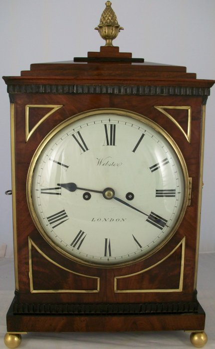Antique Regency Mahogany Bracket Clock Ian Burton