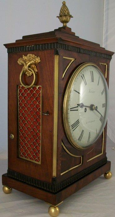 Antique Regency Mahogany Bracket Clock Ian Burton