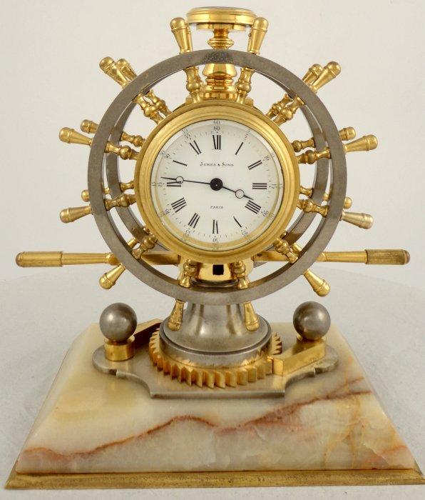 Antique French industrial nautical desk clock - Antique French Industrial Nautical Desk Clock Ian Burton Antique