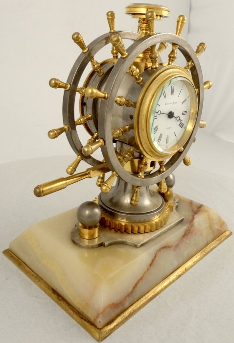 Antique French Industrial Nautical Desk Clock Ian Burton